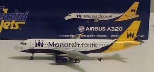 Gemini Jets  1:400  A320 Monarch Airlines   #G-OZBX -  GJMON1181