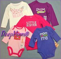 CARTER'S OUTFIT BODYSUIT LONG ONE PIECE BABY GIRLS NB 3 6 9 12 18 24 MONTHS NEW