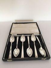 Molto bello con Montante Set di 6 cucchiaini da pompelmo in argento (Cooper BROS Sheff 1961