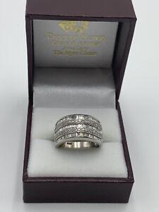 Diamond Ring 121 Stones 9ct White Gold