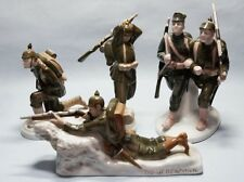 4 Stück Rosenthal  Porzellan Soldaten Figuren  soldier figures  um 1914