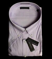 ENRO Damon Big Dri-Tech Lavender Button Down Short Sleeve Dress Shirt 22
