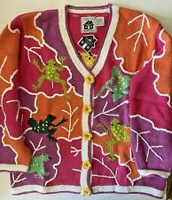 STORYBOOK KNITS EXCLUSIVELY FOR HOME SHOPPING NETWORK HANDKNIT FROGS SWEATER NWT