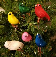 Pack of 12 Multi-Color Small Artificial Feathered Stuffed Birds Floral Crafts