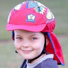 Children's Bicycle Helmet - Slip-on Sun Protection Cover - UPF30+ (Racer) -
