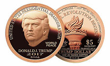 2017 Trump Dollar Inaugural 1 oz .999 Copper $5 Norfed Round USA Made Coin