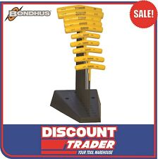 Bondhus T-Handle Hex Ball End Key Set 10Pc Imperial + Stand Made in USA - 13190