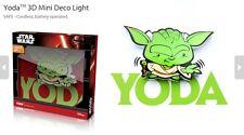 Official Star Wars Yoda 3D FX Deco Mini Wall Home LED Night Light