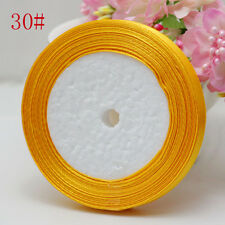 "2X NEW 3/8"" 10mm 25yard Craft Satin Ribbon Wedding orange yellow Free Shipping"