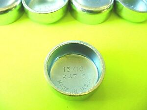 """Fits GM 5pk 15/16"""" Freeze Expansion Plugs Zinc Plated Steel Engine Cylinder NOS"""