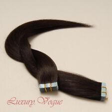 """20"""" Europäisch Remy A+ Hair Echthaar Tape Extensions Band Haarverlängerungen #2"""
