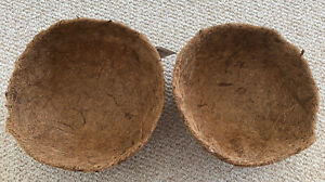 """2 Garden Collection Coco Liners Quality 10"""" Hanging Basket Coir Coconut Lining"""