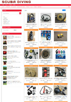 SCUBA DIVING EQUIPEMENT WEBSITE WITH NEW DOMAIN + 1 YEARS HOSTING - EASY TO RUN