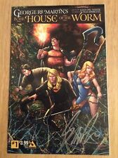 SIGNED- George R R Martin In The House Of The Worm Comic SDCC #1 Avatar + Pic