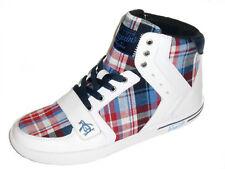 Original Penguin Moby Hi Top Sneakers Men's Shoes White Patriot Blue Size 9 New