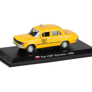 1:43 Vintage Fiat 125P Varsavia 1980 Taxi Cab Model Car Diecast Collection Gift