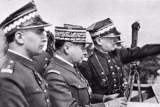 WW2 - Pologne mai 1939 - Généraux français Gamelin et polonais Kasprzycki