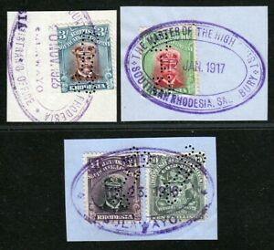 RHODESIA ADMIRALS ISSUE TO £1 USED AS REVENUES. CLEAN LOT.  A830