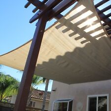 NEW Sun Shade Sail 12' X 12' Foot Square Shading Canopy Sand Breathable Mesh