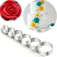 6X Round Circle Shaped Cookie Cutter Biscuit Molds DIY Cake Mould Baking Tool