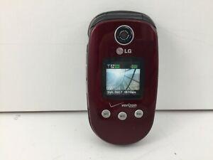 Verizon LG Maroon (STORE DISPLAY ONLY) 1.3 Mega Pixels Camera Cell Flip Phone