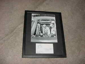 NEIL ARMSTRONG~MICHAEL COLLINS~BUZZ ALDRIN signed AUTO photo display  APOLLO 11