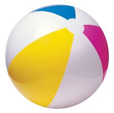 "2xIntex 24""/61cm Panel Inflatable Beach Balls Holiday Swimming Pool Party Ball"