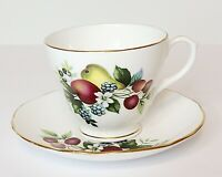 Vintage Duchess Bone China Made in England #384 Pears & Berries Tea Cup & Saucer