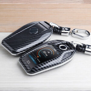 Car Key Fob Cover Case For BMW 5 6 7 Series X3 X4 X5 X7 Carbon Fiber Accessories