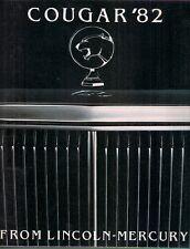 Mercury Cougar 1982 USA Market Sales Brochure GS LS Sedan Wagon Villager