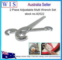 2pc Universal Wrench Set Multi-function Adjustable Quick Snap Grip Wrench-82522