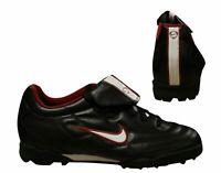Nike Tiempo 750 TF Mens Astro Turf Lace Up Black Football Boots 302244 014 B95C