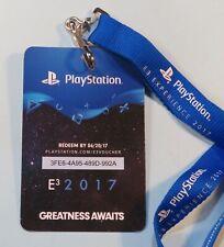 Original 2017 E3 Expo VIP Badge Pass Lanyard Sony PlayStation Los Angeles Rare