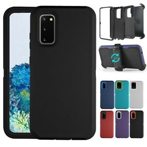 For Samsung Galaxy S20+ Ultra Plus Case Shockproof TPU Clip Holster Stand Cover