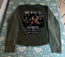 Kiss Monster World Tour Sudadera Caqui Sin Usar Sin Etiqueta Medio