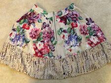 Jigsaw pre owned women's silk floral skirt size 8