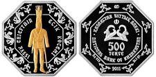 "KAZAKHSTAN 500 TENGE 2011 ""Issyk Chieftain"" BOX+COA MINTAGE 5000 PZ."