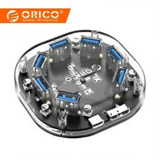 ORICO USB Splitter Transparent 7 Ports USB HUB Portable for Apple Macbook Laptop