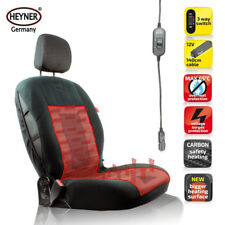 TOP 12V heated front seat cover hot heater CAR VAN BLACK universal HEYNER®