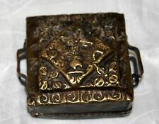 TRES ANCIEN RELIQUAIRE PORTATIF METAL BOUDDHISME TIBETAIN NEPAL  XXéme