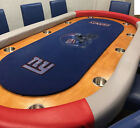 NFL+New+York+Giants+Custom+Made+Deluxe+Poker+Table+-+Includes+10+Chairs