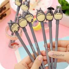 New Fine Stationery Cartoon Cute Totoro Black Roller Ball Pen Signature Pen CUB