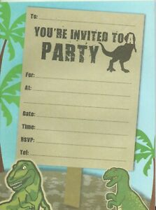 Jurassic Park Dinosaur Party Supplies Invitation Pad 20 Sheets