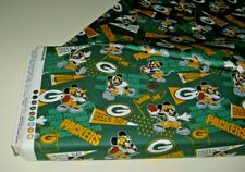 Disney Mickey Mouse NFL Green Bay Packers craft fabric BY THE YARD (70394)