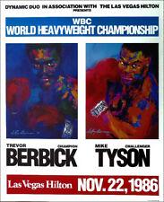 Leroy NEIMAN Boxing Mike Tyson Trevor Berbick Las Vegas 1986 Original Poster