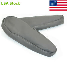Gray Leather Seat Armrest Arm Rest Cover Upholstery for 2005-2010 Honda Odyssey