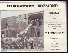 1929  --  CERIZAY  ETABLISSEMENTS BREMOND  T598