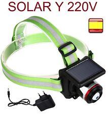 Linterna frontal recargable 5000 LM de cabeza zoom led cree 2 EN 1 solar y cable