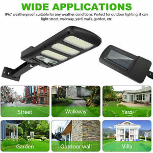 600W 213LED Solar Wall Light Motion Sensor Outdoor Garden Security Street Lamp