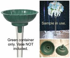 1 Green TOWER VASE FLOWER ARRAIGNMENT CONTAINER-Fit Most Eiffel Tower Vases